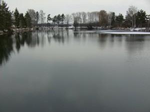 See zum Karpfenangeln im Winter